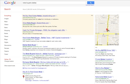 Note buyers dallas google search