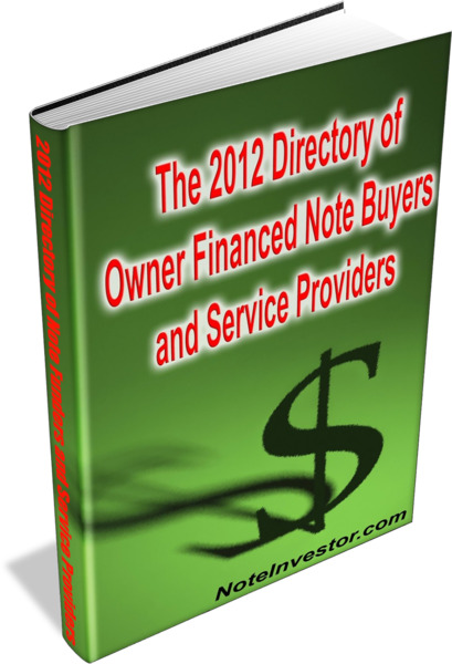 Directory of Owner Financed Note Buyers and Service Providers