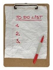 To do list note business