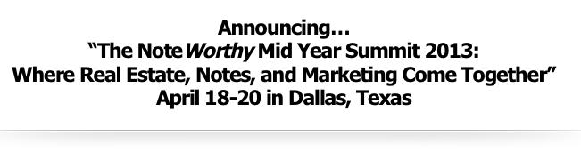 Noteworthy Summit 2013 April 18-20
