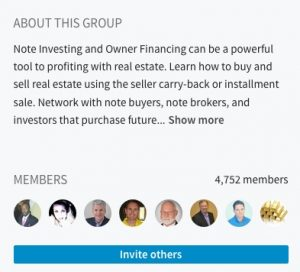 LinkedIn Note Investing Group 2017