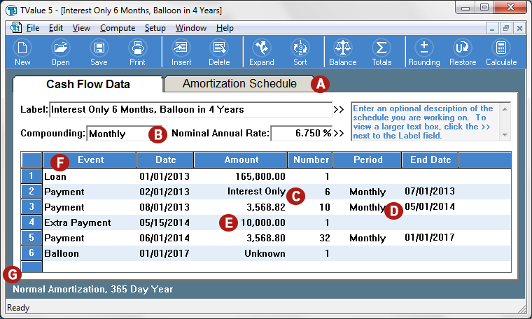 tvalue amortization software and financial calculator note investor