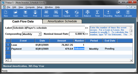Note Purchase Amortization A