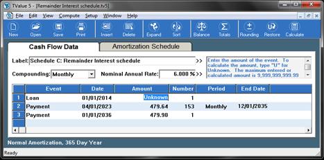 TValue Amortization Brokers Schedule C
