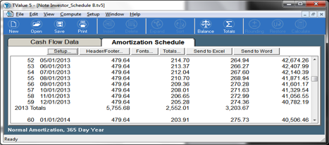 TValue Amortization Schedule B Early Payoff