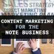 Content Marketing Note Business