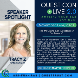 Image of Tracy Z with Speaker Spotlight for Quest Con 2.0